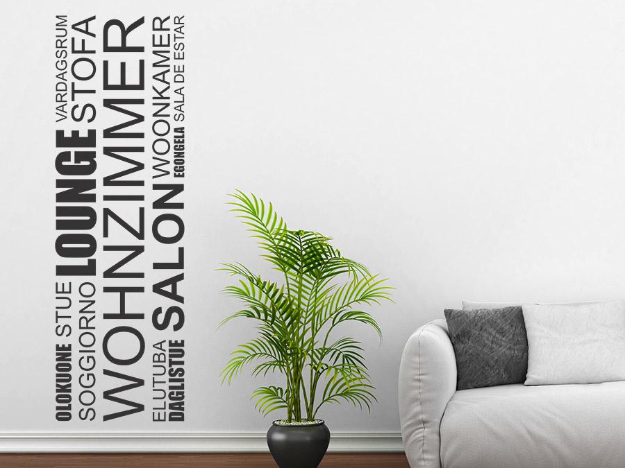 Wandtattoo Wohnzimmer Banner Sprachen