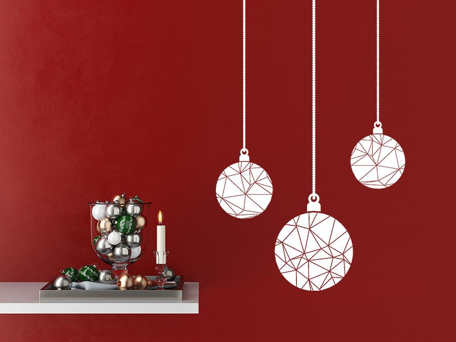 Wandtattoos als weihnachtsdeko w nde und fenster weihnachtlich gestalten - Ausgefallene weihnachtskugeln ...