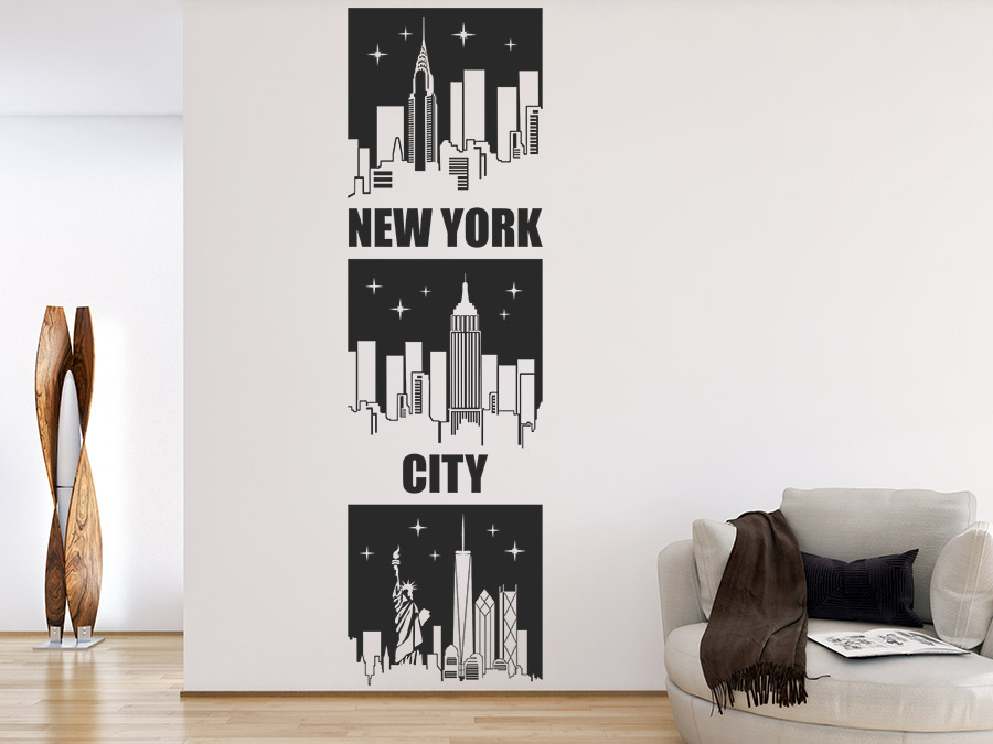 Wandtattoo Banner New York City