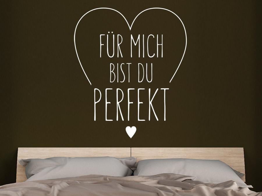 Wandtattoo Für mich bist du perfekt | WANDTATTOO.DE