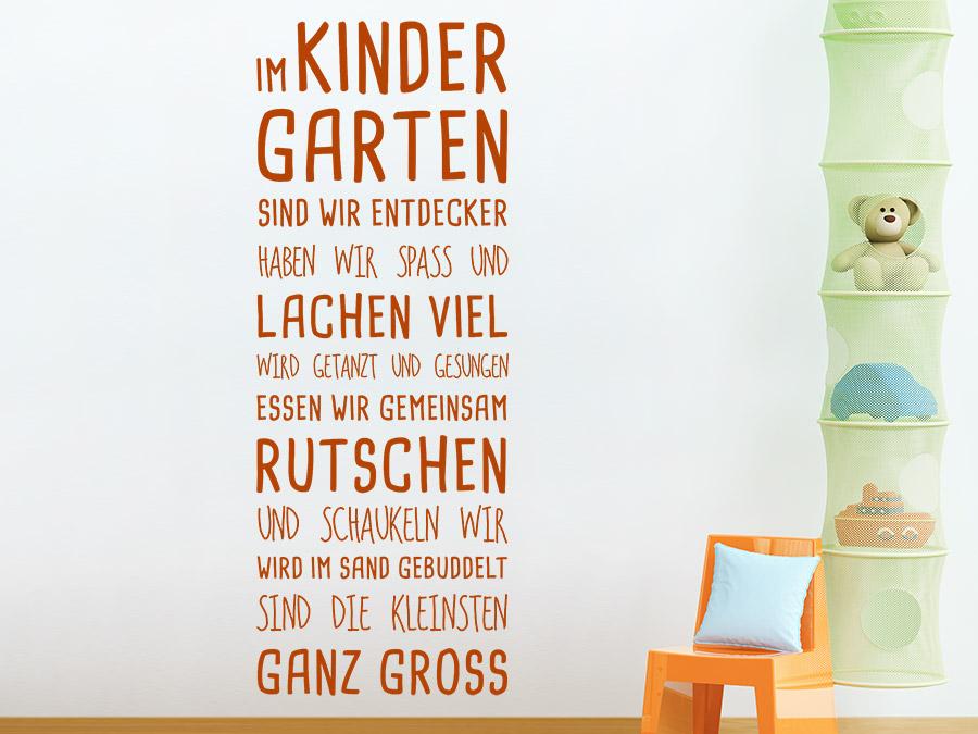 Wandtattoo Im Kindergarten Spruchband | WANDTATTOO.DE