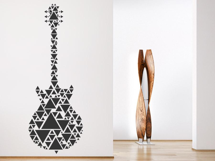 Wandtattoo gitarre aus dreiecken wandtattoo de - Wandtattoo dreiecke ...