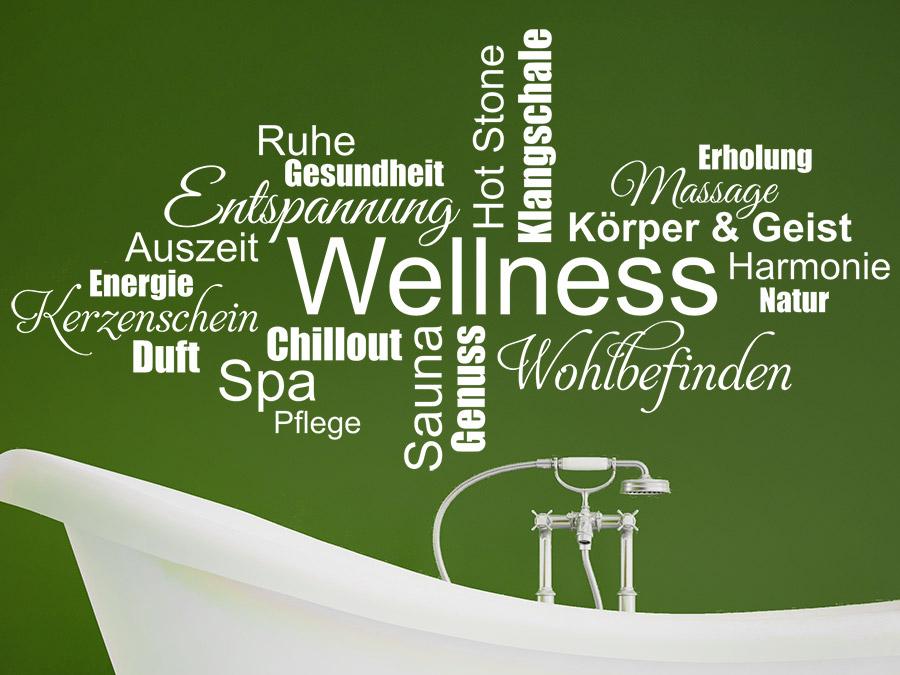 Wandtattoo wellness wortwolke wandtattoo de - Wandtattoo wellness ...