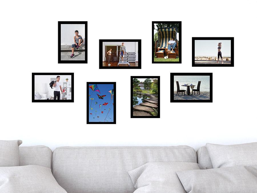 wandtattoo moderne fotorahmen set wandtattoo de. Black Bedroom Furniture Sets. Home Design Ideas