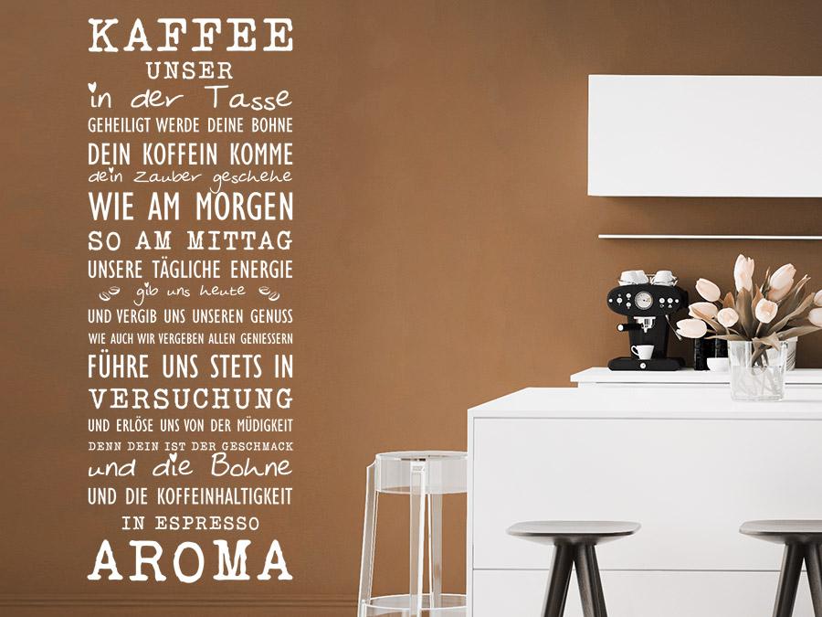 Wandtattoo Kaffeetreff mit Deinem Wunschnamen NEU