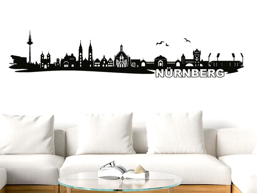 wandtattoo n rnberg skyline wandtattoo de. Black Bedroom Furniture Sets. Home Design Ideas