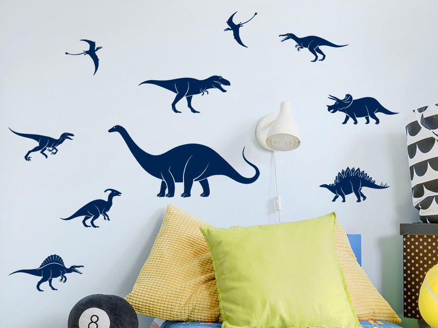 wandtattoo dinosaurier set wandtattoo de. Black Bedroom Furniture Sets. Home Design Ideas