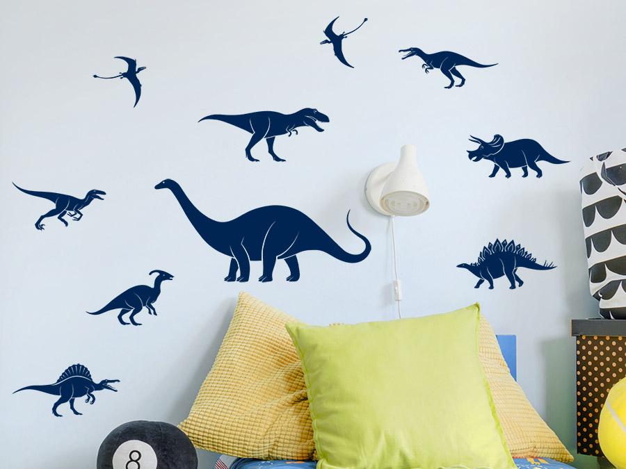 Wandtattoo Dinosaurier Set Wandtattoo De