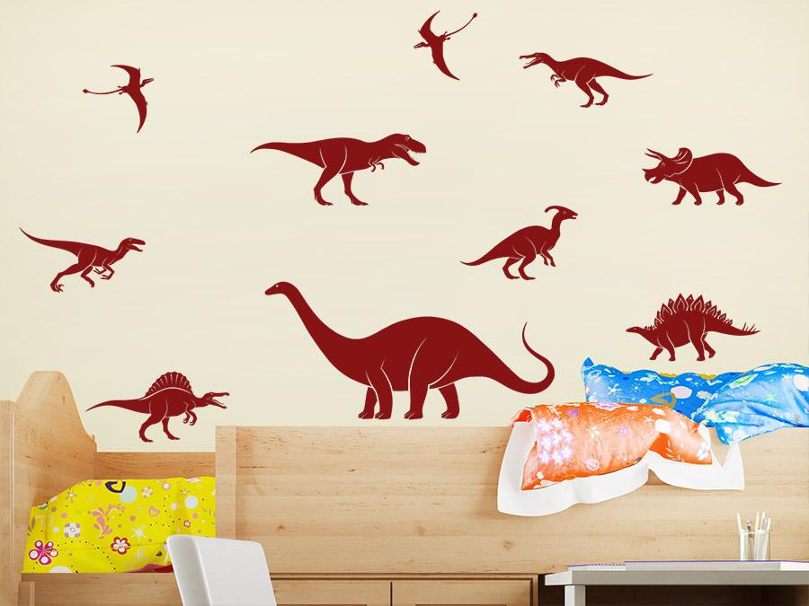 Wandtattoo Dinosaurier Set Wandtattoo Dinosaurier Set Im Kinderzimmer ...