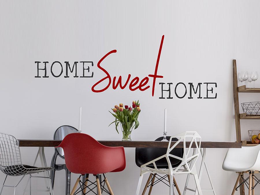 ... Wandtattoo Begriff Home Sweet Home Auf Hellem Hintergrund