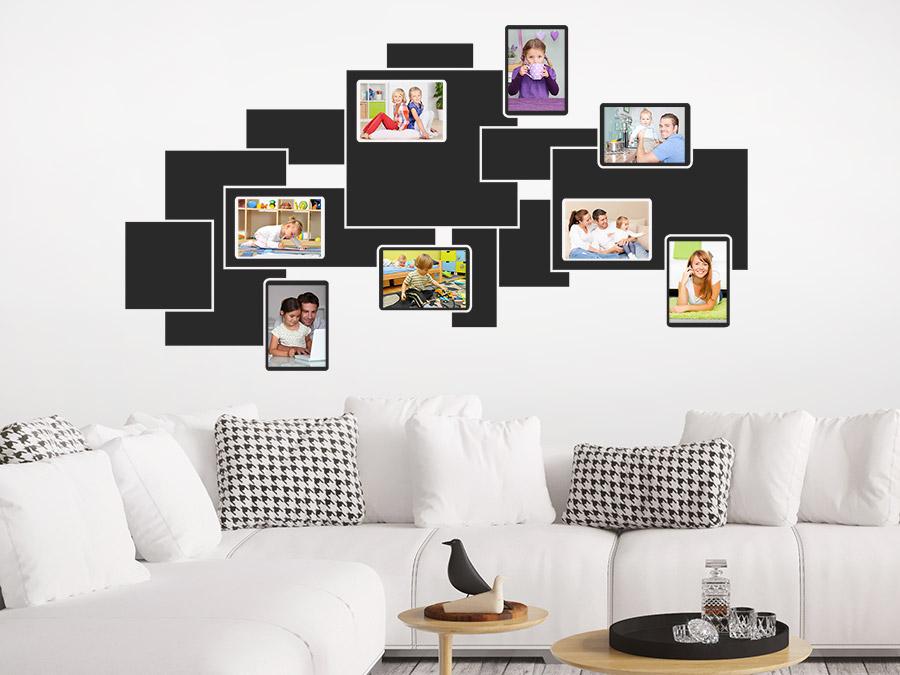 wandtattoo 3d fotorahmen f r fotos wandtattoo de. Black Bedroom Furniture Sets. Home Design Ideas
