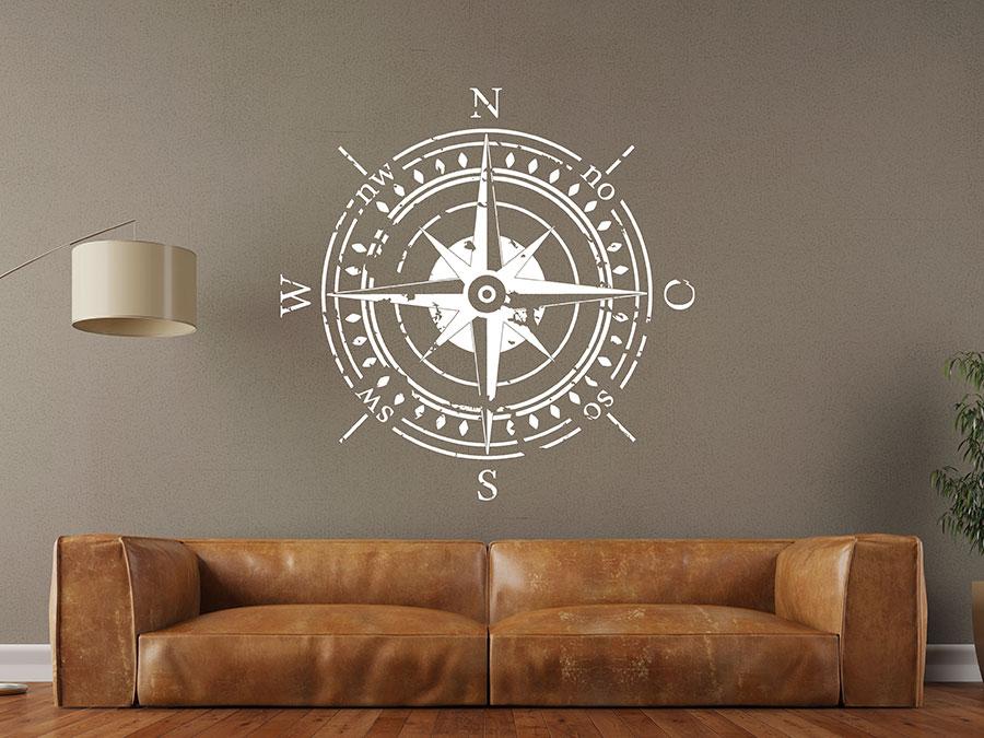 Wandtattoo kompass - Wandtattoo kompass ...