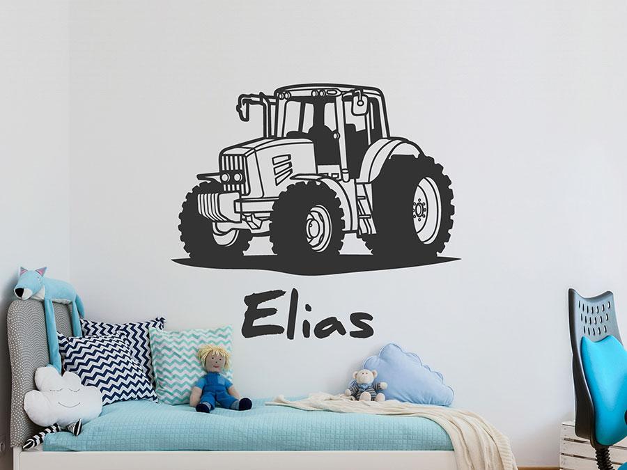 Wandtattoo Traktor Mit Wunschname Trecker Wandtattoo De