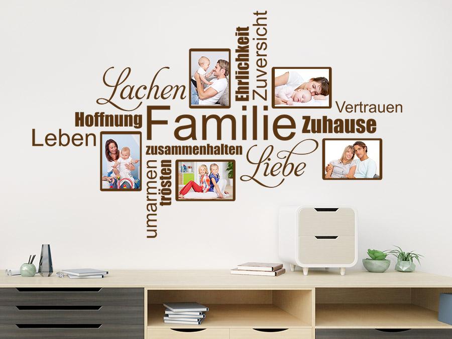 wandtattoo fotorahmen wortwolke familie wandtattoo de. Black Bedroom Furniture Sets. Home Design Ideas