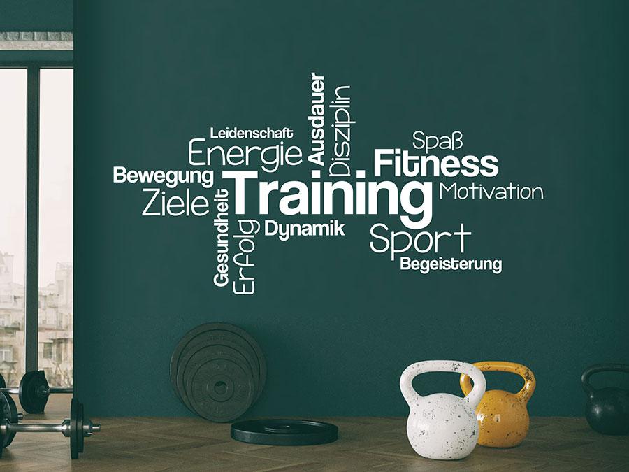 Wandtattoo Training Begriffe Fitness Motivation Wandtattoo De