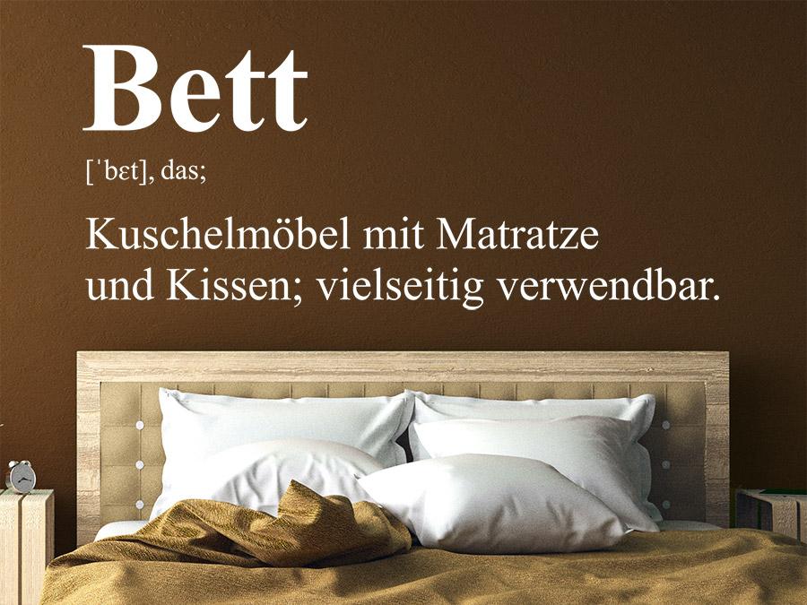 Wandtattoo Bett Definition Schlafzimmer Wandtattoode