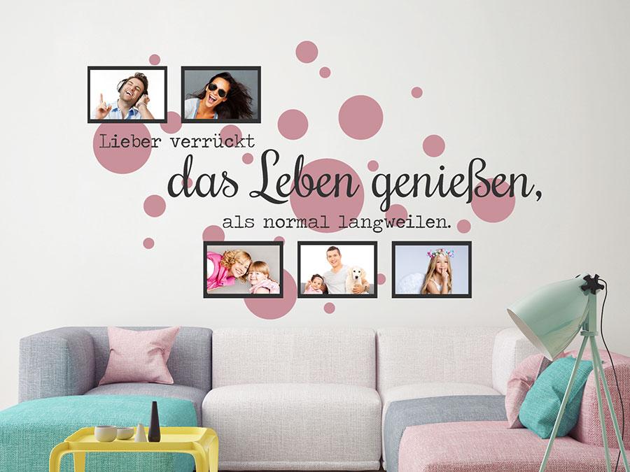 Wandtattoo Fotorahmen Das Leben genießen | WANDTATTOO.DE