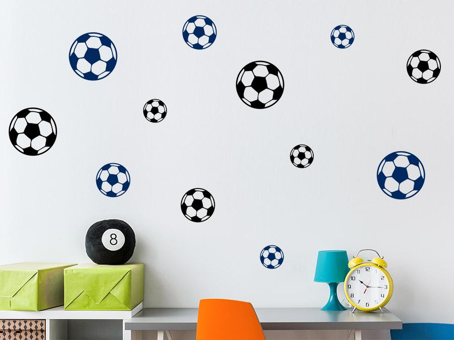 Wandtattoo Fußball Mix Wandtattoo Fußball Mix Im Kinderzimmer ...