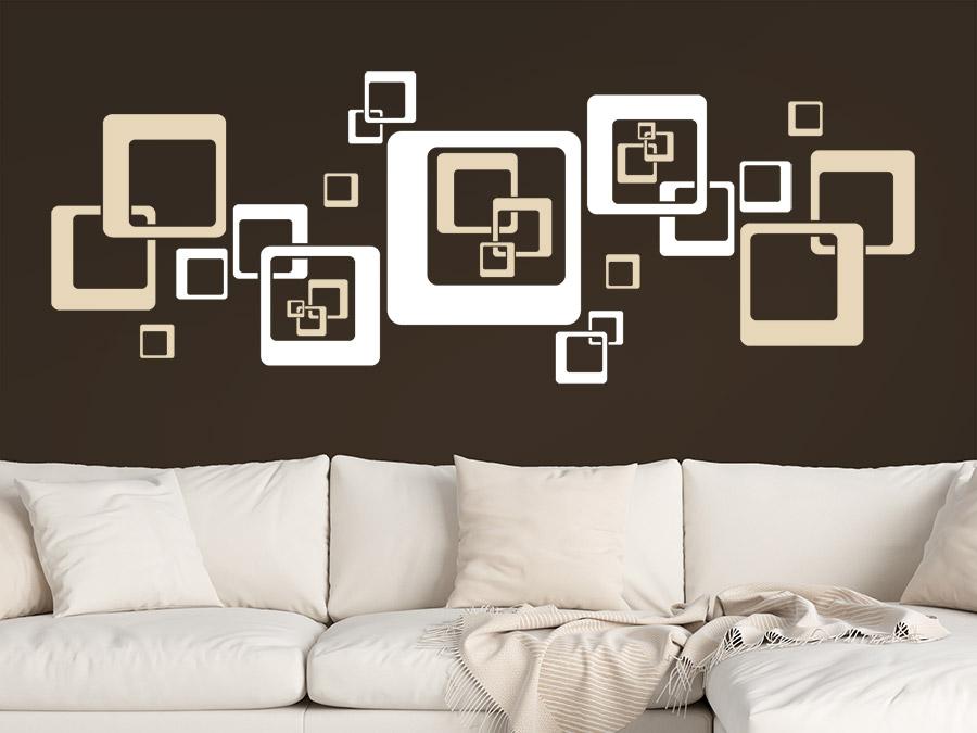 wandtattoo komposition aus quadraten wandtattoo de. Black Bedroom Furniture Sets. Home Design Ideas