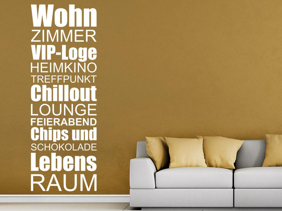 wandtattoo wohnzimmer lebensraum | wandtattoo.de