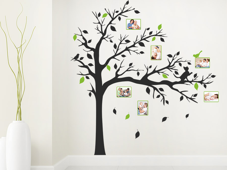 wandtattoo baum mit sten und fotos bei. Black Bedroom Furniture Sets. Home Design Ideas