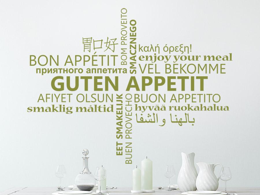 Guten Appetit Französisch wandtattoo guten appetit multikulturell wandtattoo de
