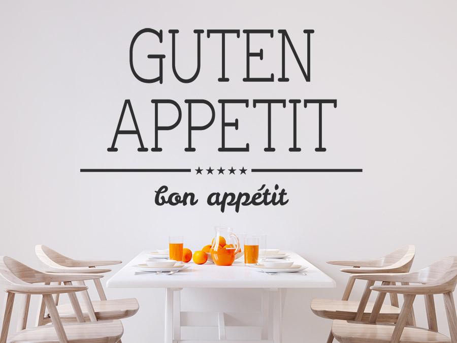 Awesome Wandtattoo Küche Guten Appetit Gallery - Milbank.us ...