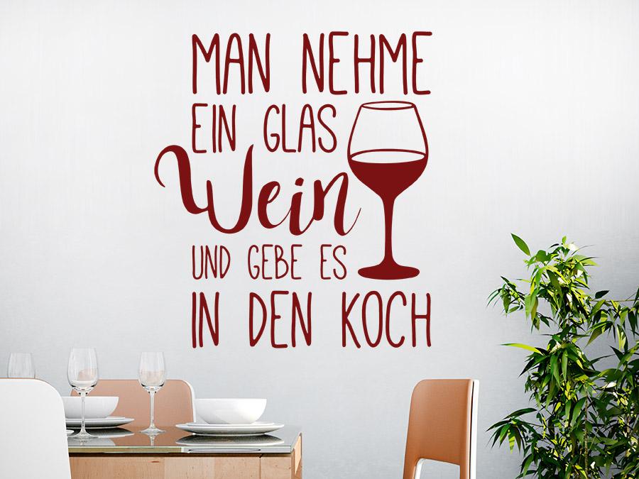Wandtattoo Man nehme ein Glas Wein