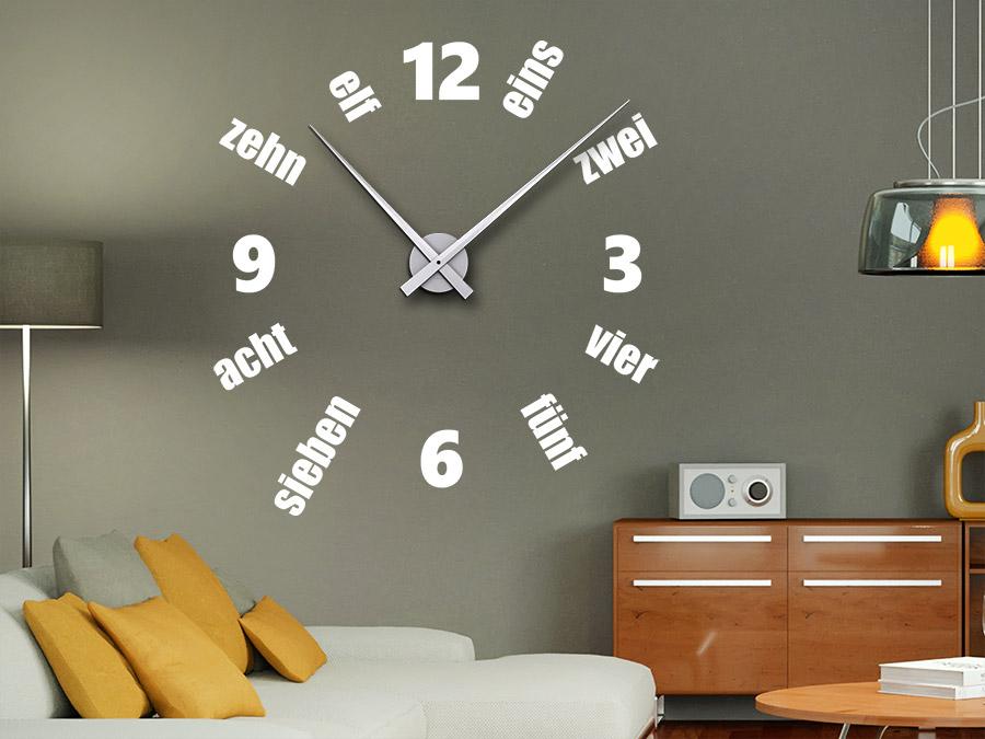 Wandtattoo Uhr Designzeit