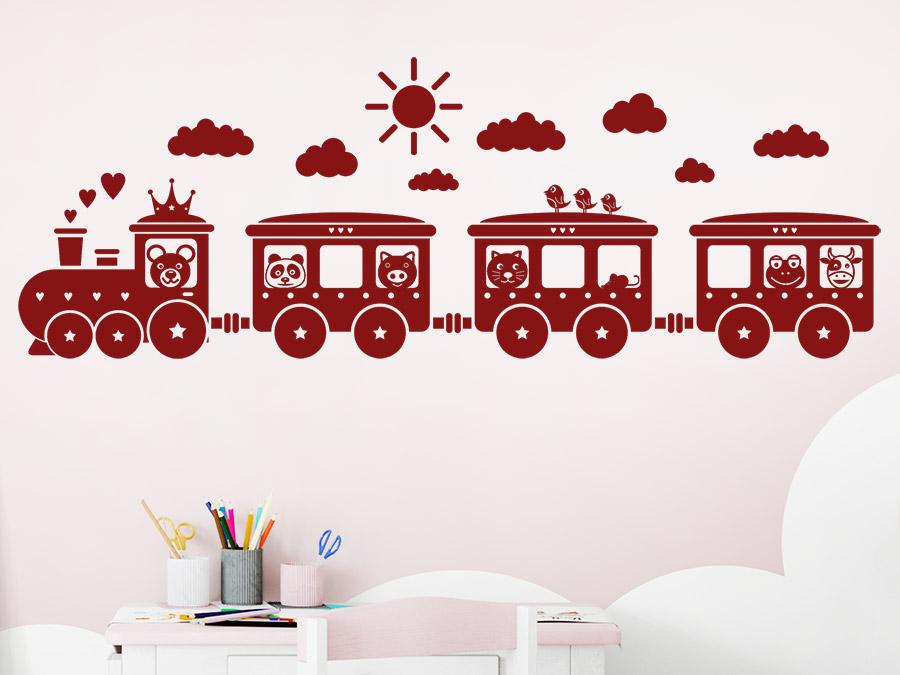 Wandtattoo Kinder Eisenbahn | WANDTATTOO.DE