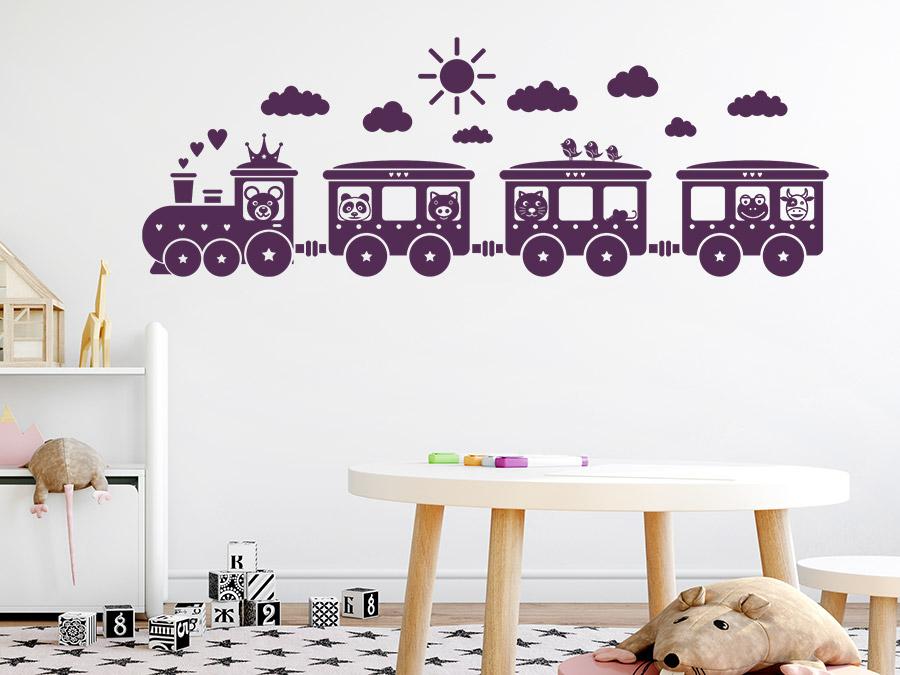Wandtattoo kinder eisenbahn wandtattoo de for Wanddekoration babyzimmer