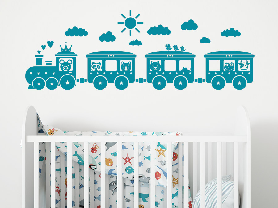 wandtattoo kinder eisenbahn wandtattoo de. Black Bedroom Furniture Sets. Home Design Ideas