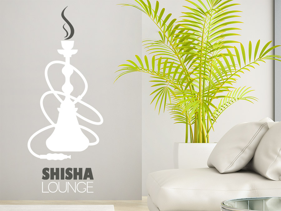Wandtattoo Shisha Lounge Im Wohnzimmer