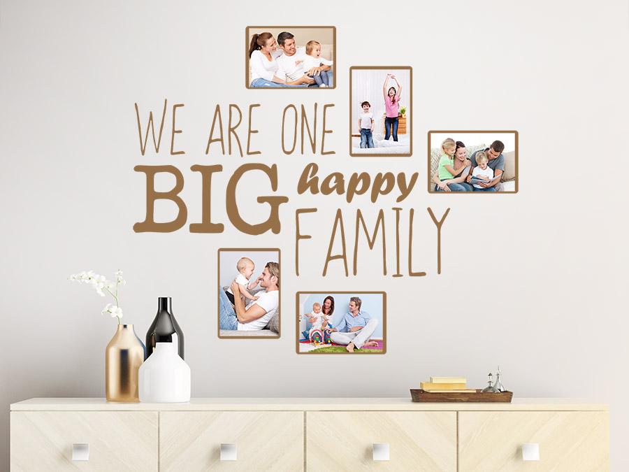 Wandtattoo fotorahmen happy family wandtattoo de - Wandtattoo family ...
