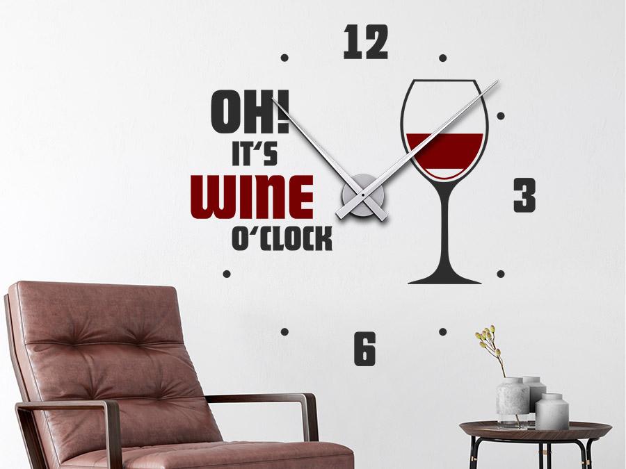 Wandtattoo Uhr Wine