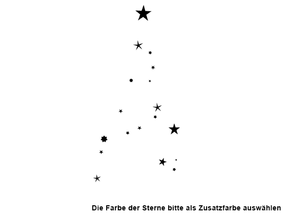 wandtattoo worte weihnachtsbaum mit sternen wandtattoo de. Black Bedroom Furniture Sets. Home Design Ideas