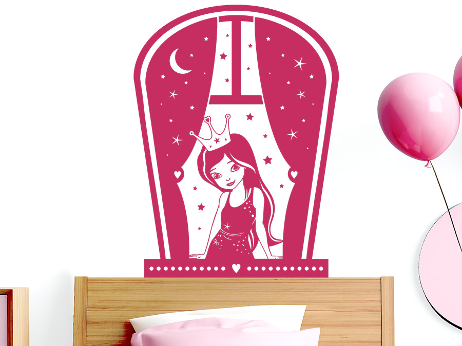 wandtattoo fenster mit prinzessin wandtattoo de. Black Bedroom Furniture Sets. Home Design Ideas