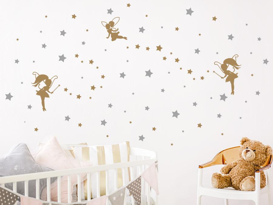Wandtattoo Sternenhimmel mit Feen | WANDTATTOO.DE