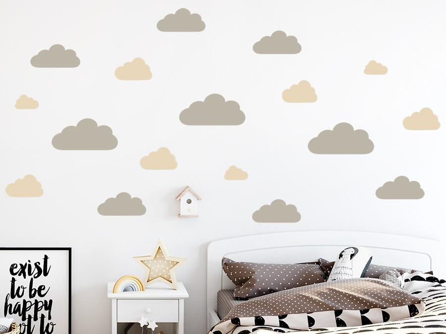Wandtattoo Wolken Set | WANDTATTOO.DE