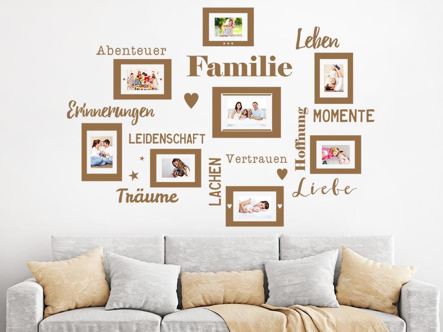 wandtattoo fotorahmen f r familien wandtattoo de. Black Bedroom Furniture Sets. Home Design Ideas