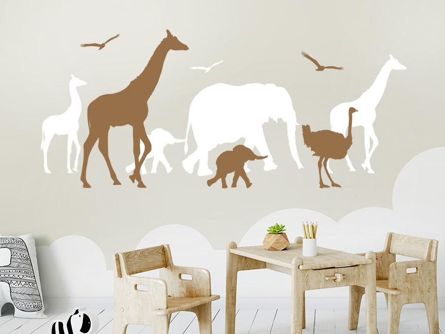 Wandtattoo safari afrika wandtattoo de - Kinderzimmer safari ...