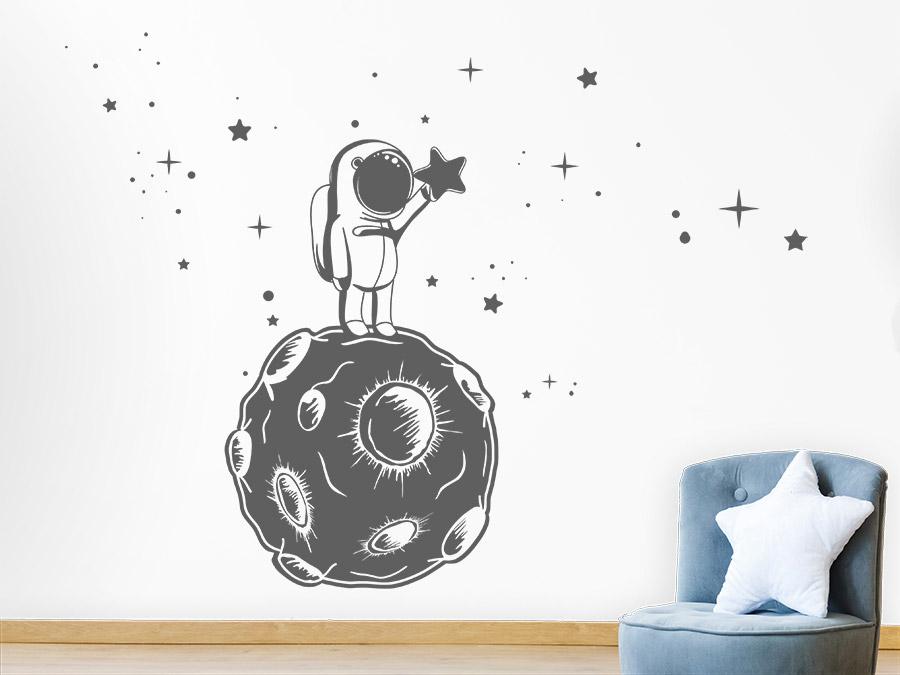 Wandtattoo Kleiner Astronaut Sternenfänger