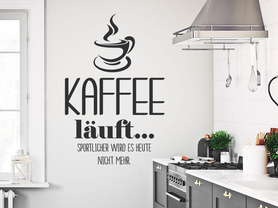 wandtattoo kaffee l uft sportlicher wird es wandtattoo de. Black Bedroom Furniture Sets. Home Design Ideas