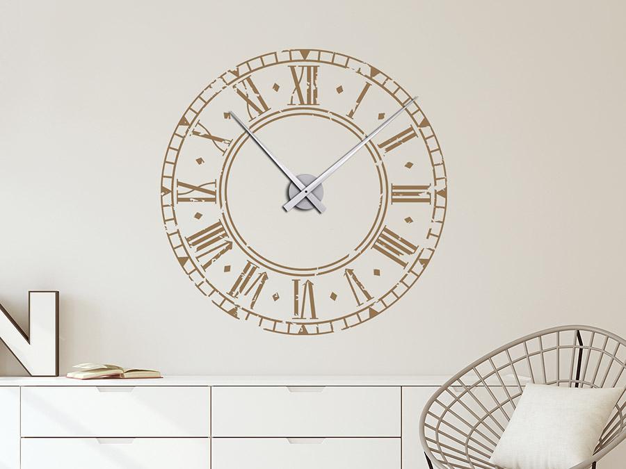Wandtattoo Uhr Römisches Ziffernblatt