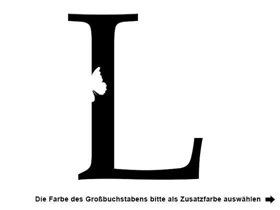 Wandtattoo Name mit Buchstabe und Sternen | WANDTATTOO.DE