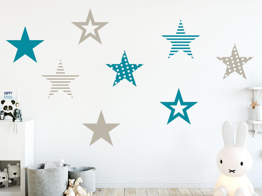 Top Wandtattoo Große Sterne Set | WANDTATTOO.DE MS14