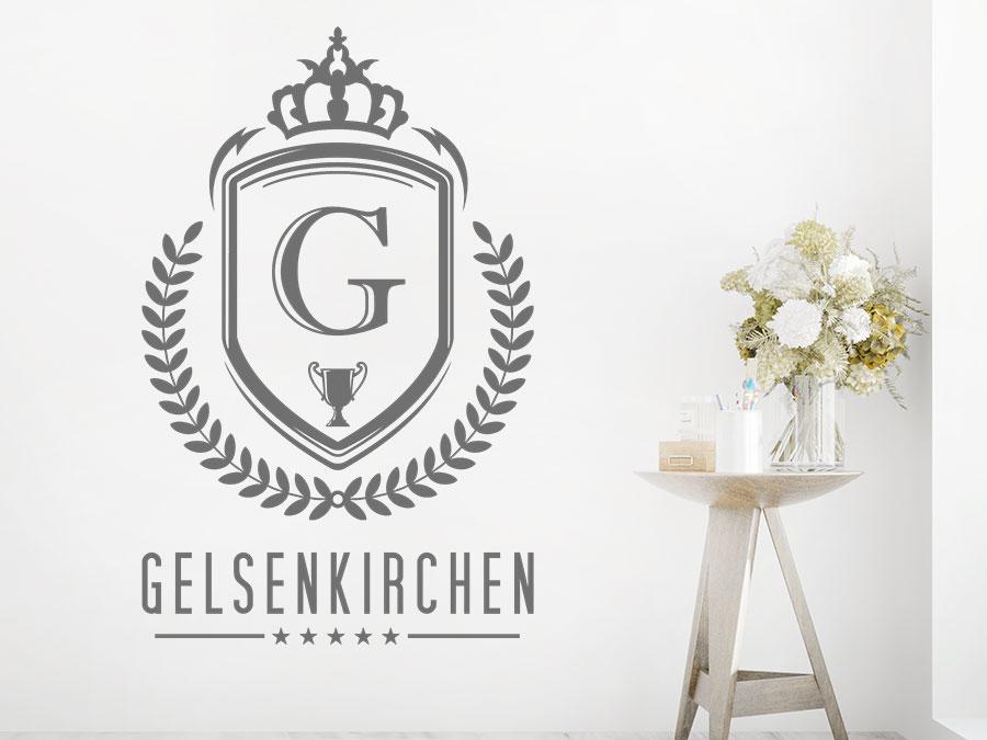 Wandtattoo Ostpreussen großes Wappen 51 x 60 cm