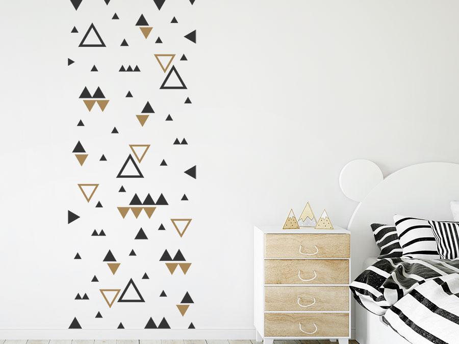 Wandtattoo dreiecke zweifarbig wandtattoo de - Wandtattoo dreiecke ...
