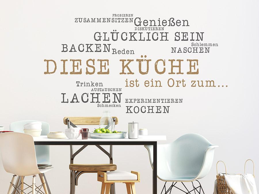 Wandtattoo Diese Küche ist ein Ort | WANDTATTOO.DE