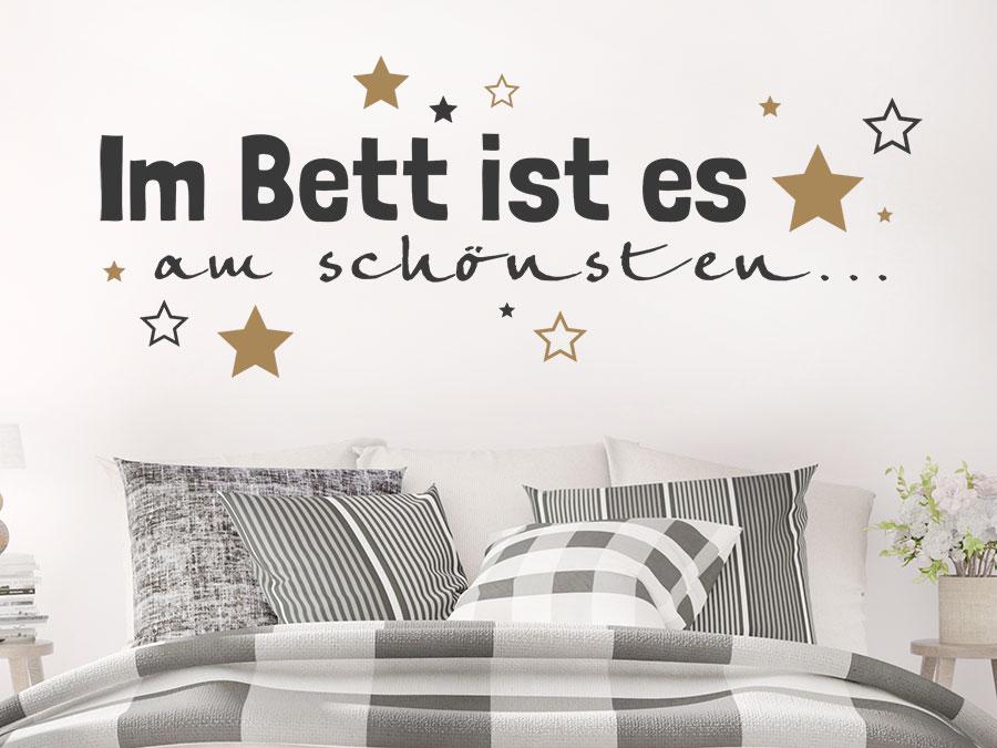 Wandtattoo Im Bett ist es am schönsten...   WANDTATTOO.DE